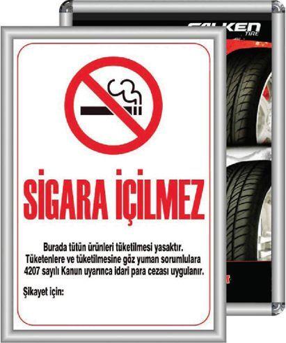 Samsun Sigara içilmez tabela, Bafra Alaminyum Çerçeve,  Samsun Alaminyum Çerçeve